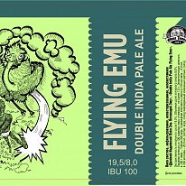 "DOUBLE INDIA PALE ALE ""FLYING EMU""."